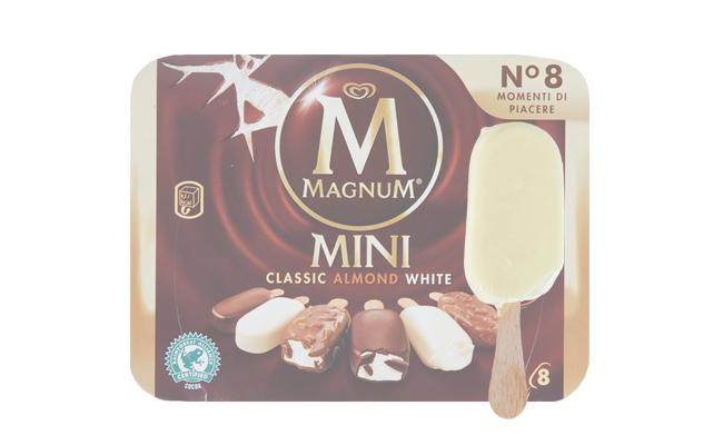 Algida , Magnum Mini White (Ricoperto cioccolato Bianco)