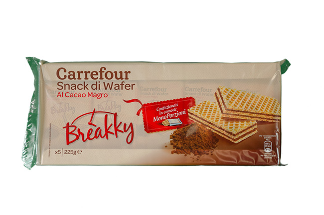 Breakky - Snack di wafer al cacao magro
