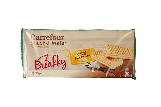 Breakky - Snack di wafer alla vaniglia