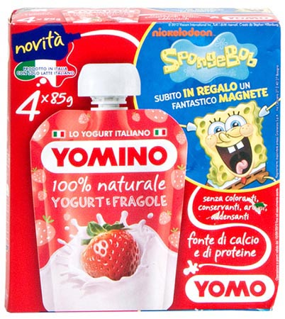 Yomino yogurt e fragole