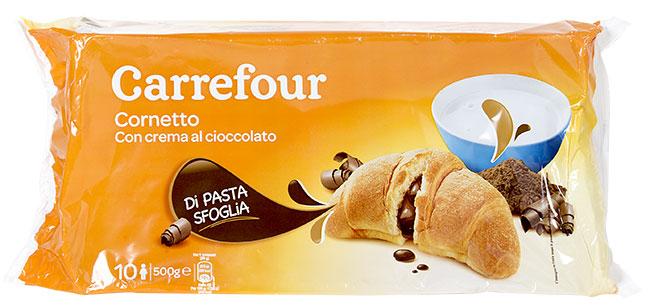 Cornetto con crema al cioccolato