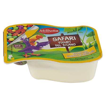 Safari yogurt del tucano con confetti di cioccolato