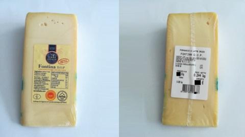 formaggio fontina ritirato