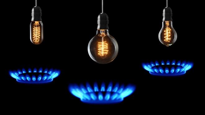 fiamma fornello a gas e lampadine