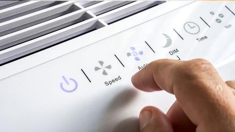 condizionatore portatile close-up display