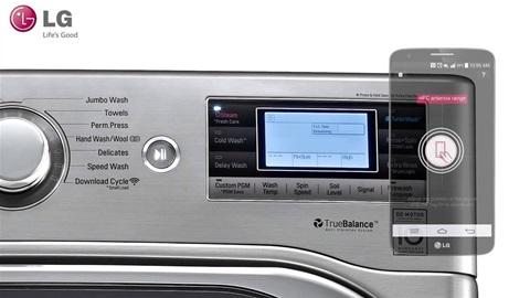 La lavatrice che si controlla tramite app