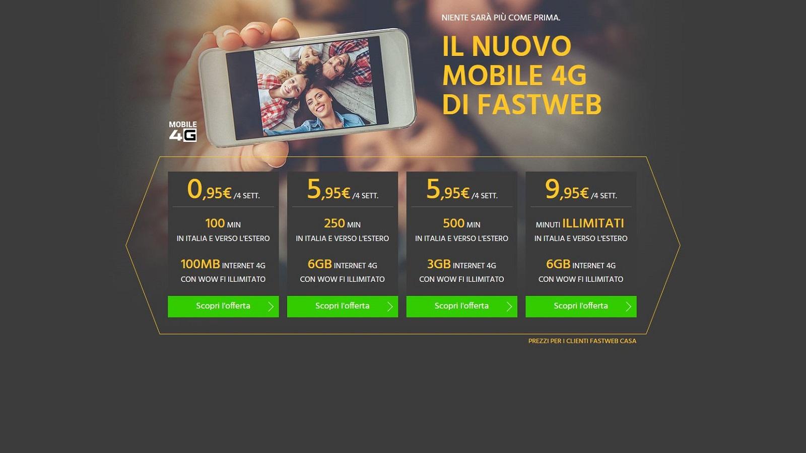 Fastweb presenta le nuove offerte mobile 4g. ma sono davvero
