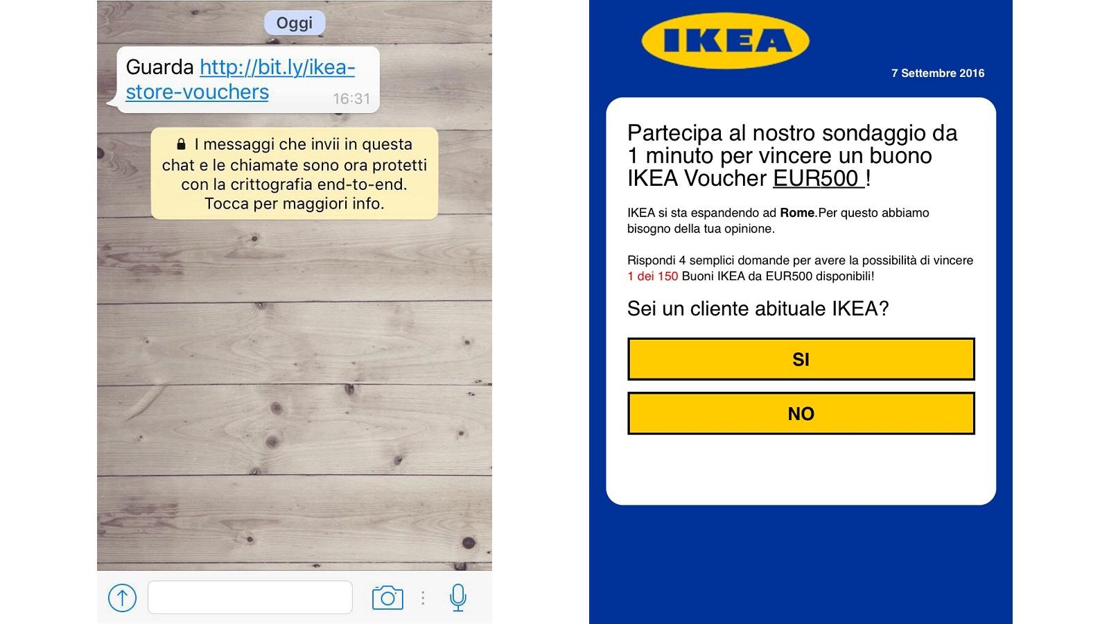Rispondi Al Sondaggio E Vinci Un Buono Ikea Torna La Truffa Su Whatsapp