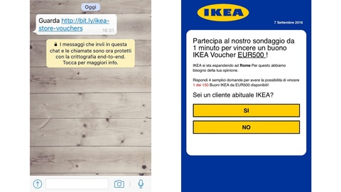 Buono Ikea da 500 euro: la nuova truffa su Whatsapp