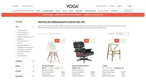 Voga.com, il sito ecommerce che vende copie d'autore di oggetti di design