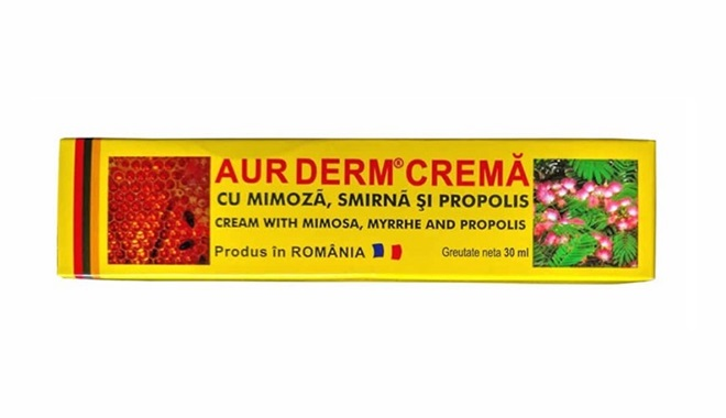 Aur derm crema medicinale illegale
