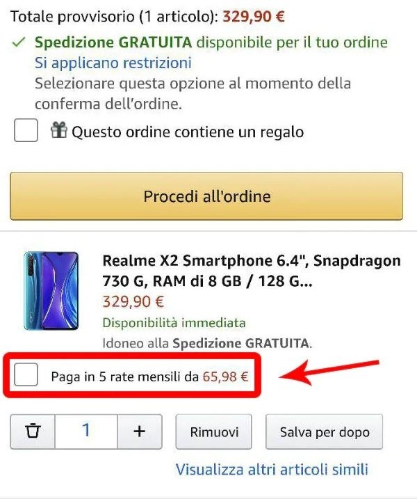 Amazon pagamento a rate