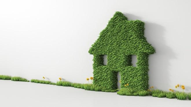 casetta stilizzata fatta con erba