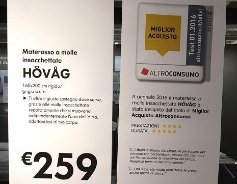 Risultati Test Materassi Altroconsumo.Anche Ikea Ha Scelto Altroconsumo Label